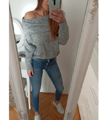H&m novi off shoulder pulover sa vunom
