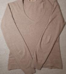 Bež majica od kašmira, svile i lana