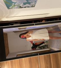 Bijela  i zelena Zara lagana haljina *100 kn*