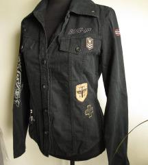 (% sniženo) Sisley crna košulja/jaknica %