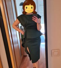 Smaragdno zelena peplum ASOS haljina