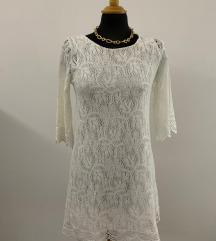H&M bijela cipkasta haljina