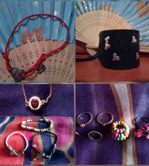 LOT narukvica i prstenja (12 komada)