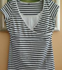 H&M mornarska majica za dojenje br. S / M