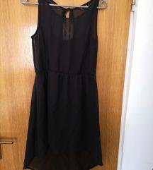 Terranova crna ljetna kratka haljina s tilom