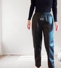 Reserved kožne hlače s etiketom