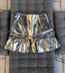 Zlatna metalik suknja