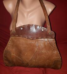 velika vintage kožna torba