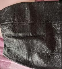 Kozna lakirana suknja