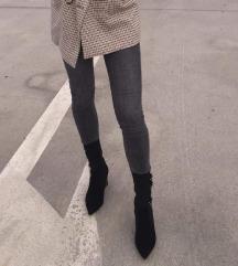 Crno-sive hlače
