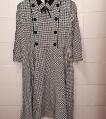 Pepita uzorak haljina - nova, nikad nošena