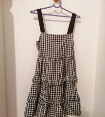 Zara haljina s vichy uzorkom