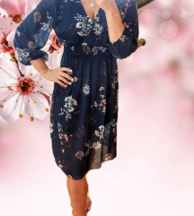 Modra floral haljina 🎀