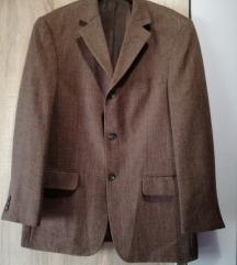 Smeđi muški kaput vel 52