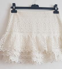 H&M čipkasta suknja veličina S