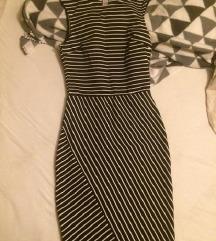 Mornarska uska mini haljina