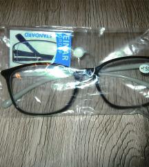 Dioptrijske naočale +1.50 + futrola   NOVO!!!