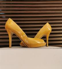 Žute lakirane cipele s otvorenim prstima-Max Mara