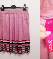 Roza zimska suknja