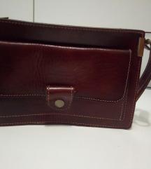 Unisex ručna torbica od prave kože