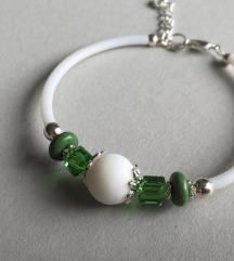 Narukvica bijeli onix i zeleni howlit