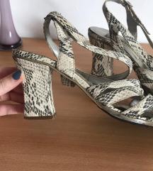 Štikle sandale zmijski uzorak 🐍