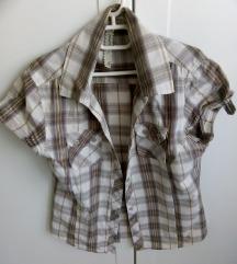 Karirana siva košulja