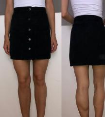 Zara crna traper mini suknja