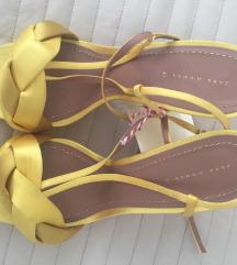 Nove Zara satensko kožne sandale 41
