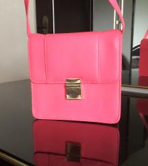 H&M neon roza torbica