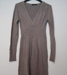 Siva vunena mekana haljina vel. S/M