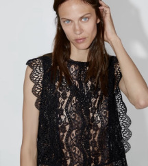% Nova Zara cipkana bluza 36