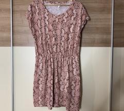 Pamučna H&M haljina sa zmijskim uzorkom, sa pt!