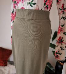 Pencil zelena suknja