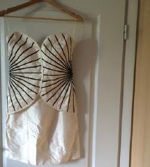 Unikatna svilena haljina šivana za