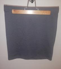Siva pencil suknja