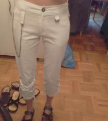 Kente bijele hlače s lancem