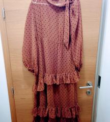 Zara hit smeđa polka haljina