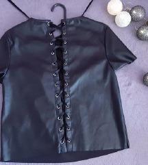 H&M kožna majica na vezanje