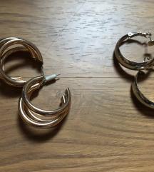 zlatne i srebrne naušnice