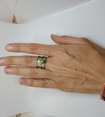 Pomični prsten srebro 925