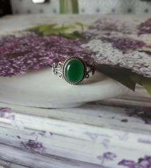 Rez za prozorcic-prsten srebro ahat