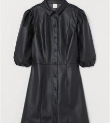 H&M kožna haljina - vel. 40 - PT GRATIS