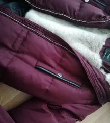 Mango pernata zimska burgundy jakna