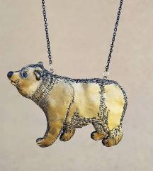 Ogrlica - Zlatni medo