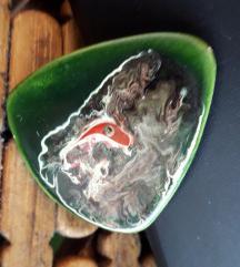 Šareni broš-keramika UNIKAT