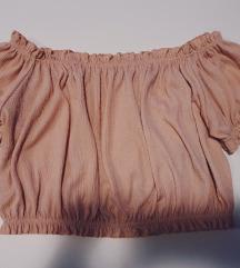 Roza crop top majica
