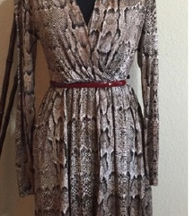 H&M zmijska haljina S/M