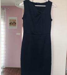 Plava svilena haljina