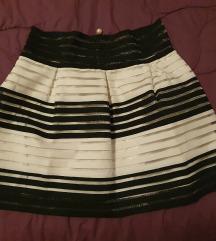 Suknja crno-bijela